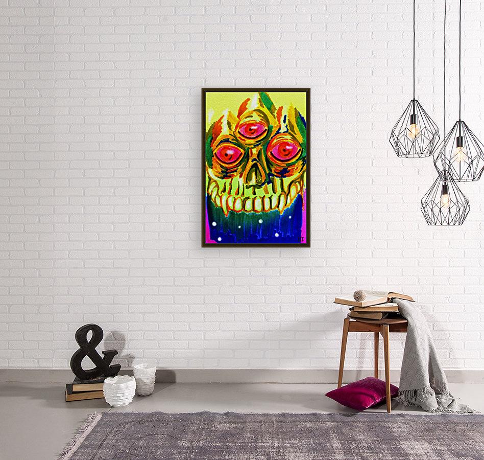Three eyed skull painting  Art