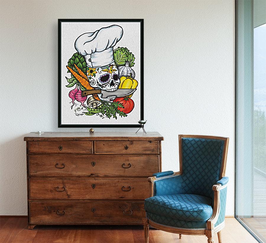 Dia de los Muertos Chef  Art