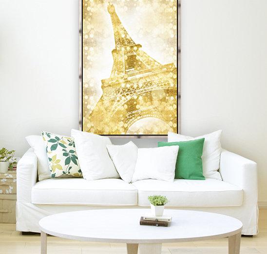 EIFFEL TOWER   golden illusion  Art
