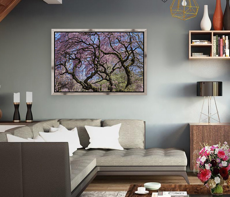 Abstract Cherry Blossom tree with Floating Frame