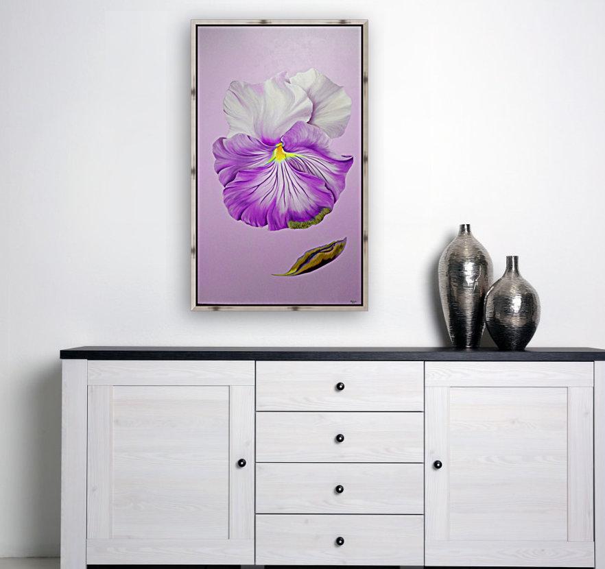 Purple Pansy  Art