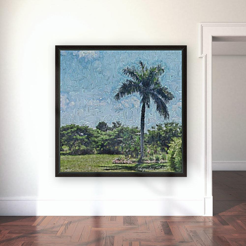 A Monet style Palm  Art