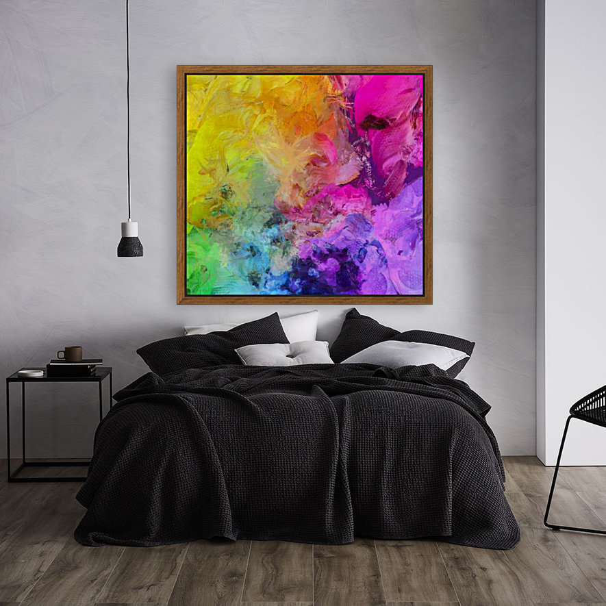 Bright Colorful Abstract Painting  Art