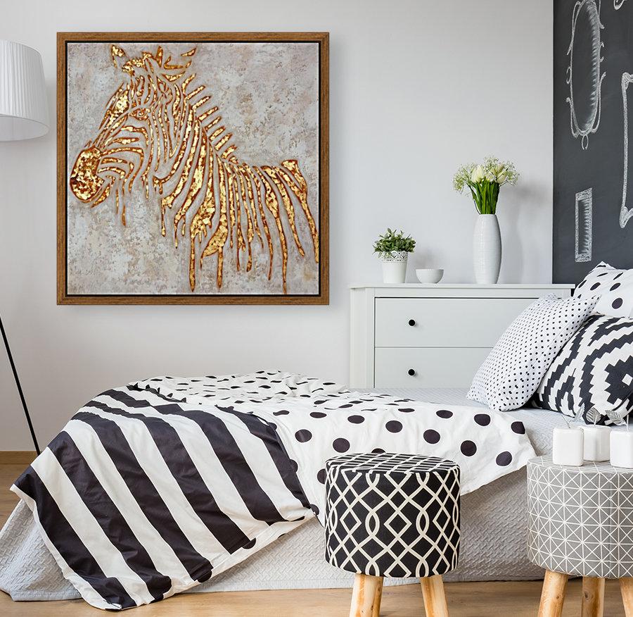 Gold Zebra  Art