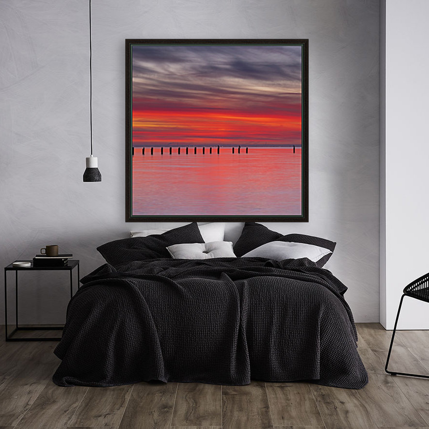 Pink Sunset over Water  Art