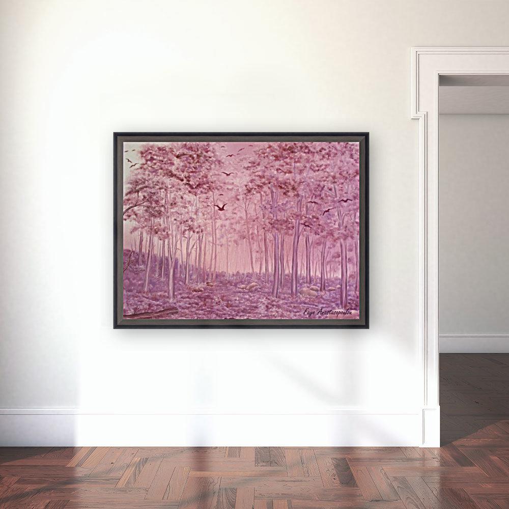 Pink Woods  Art