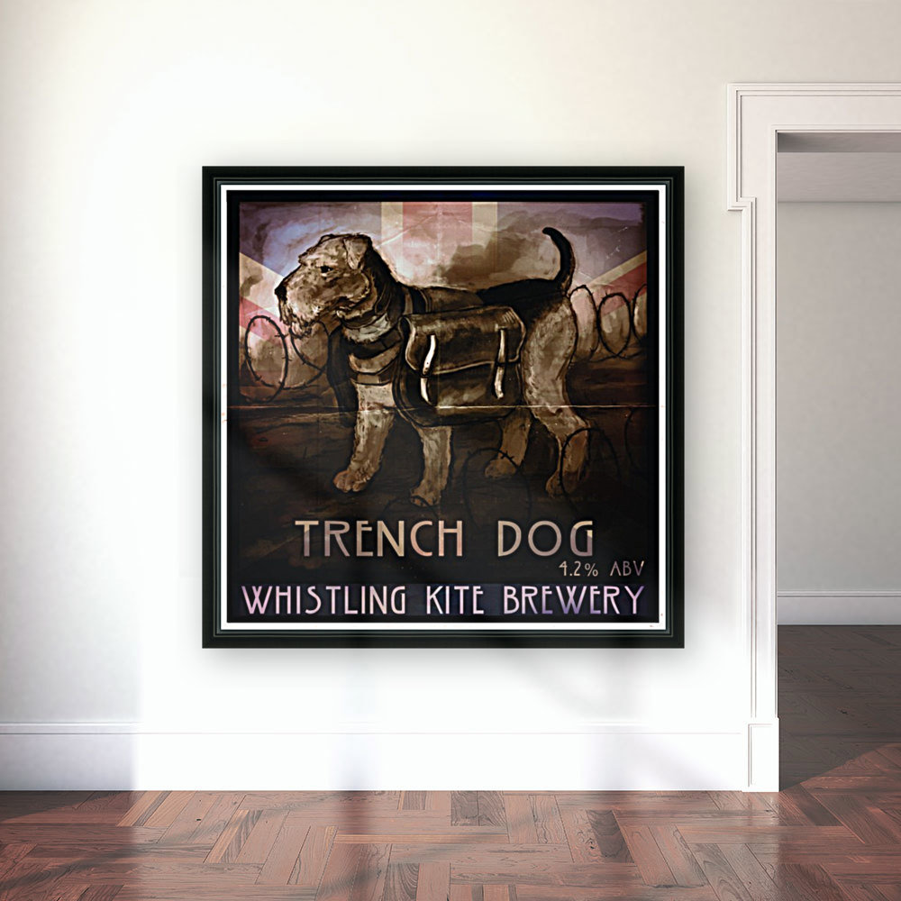 Whistling Kite Brewery: Trench Dog  Art