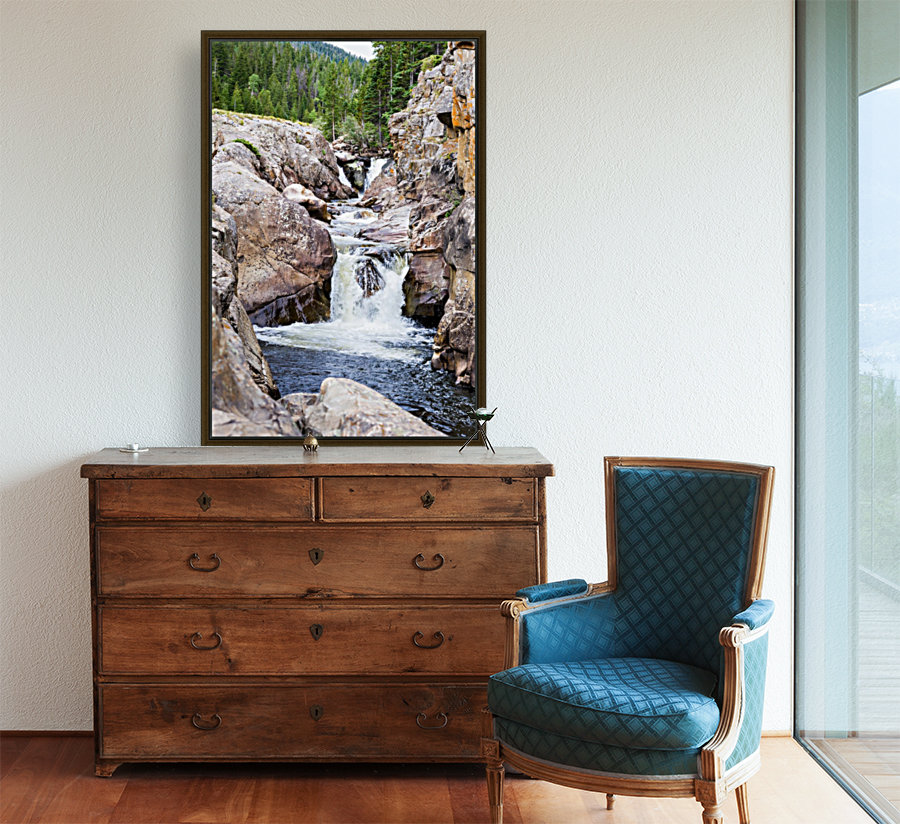 Colorado Waterfall  -  Poudre River   Art