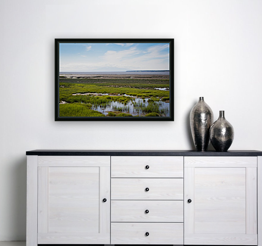 Alaska Scenery - Bay View with Floating Frame