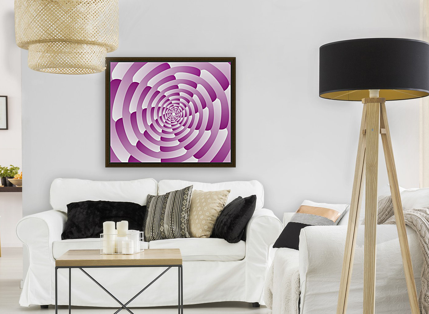 Abstract Pink Spiral Art   Art