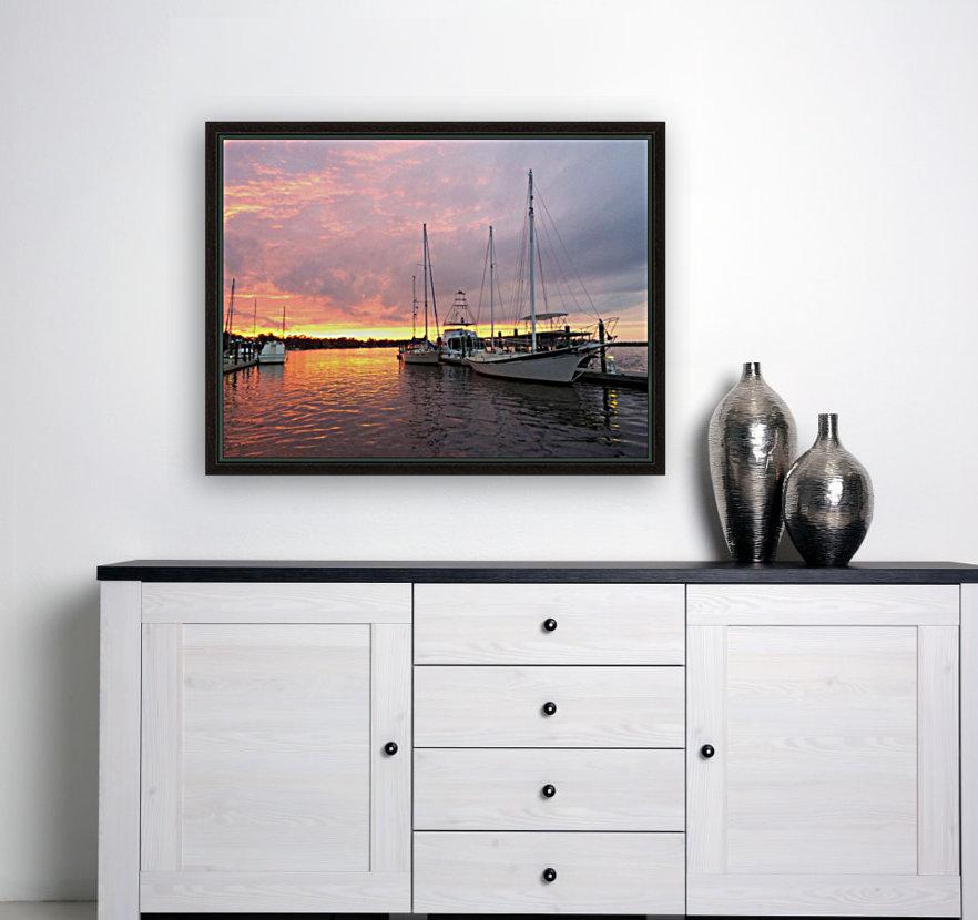 Sunset Sailboat 2  Art