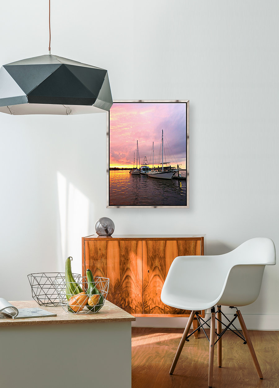 Sunset Sailboat  Art