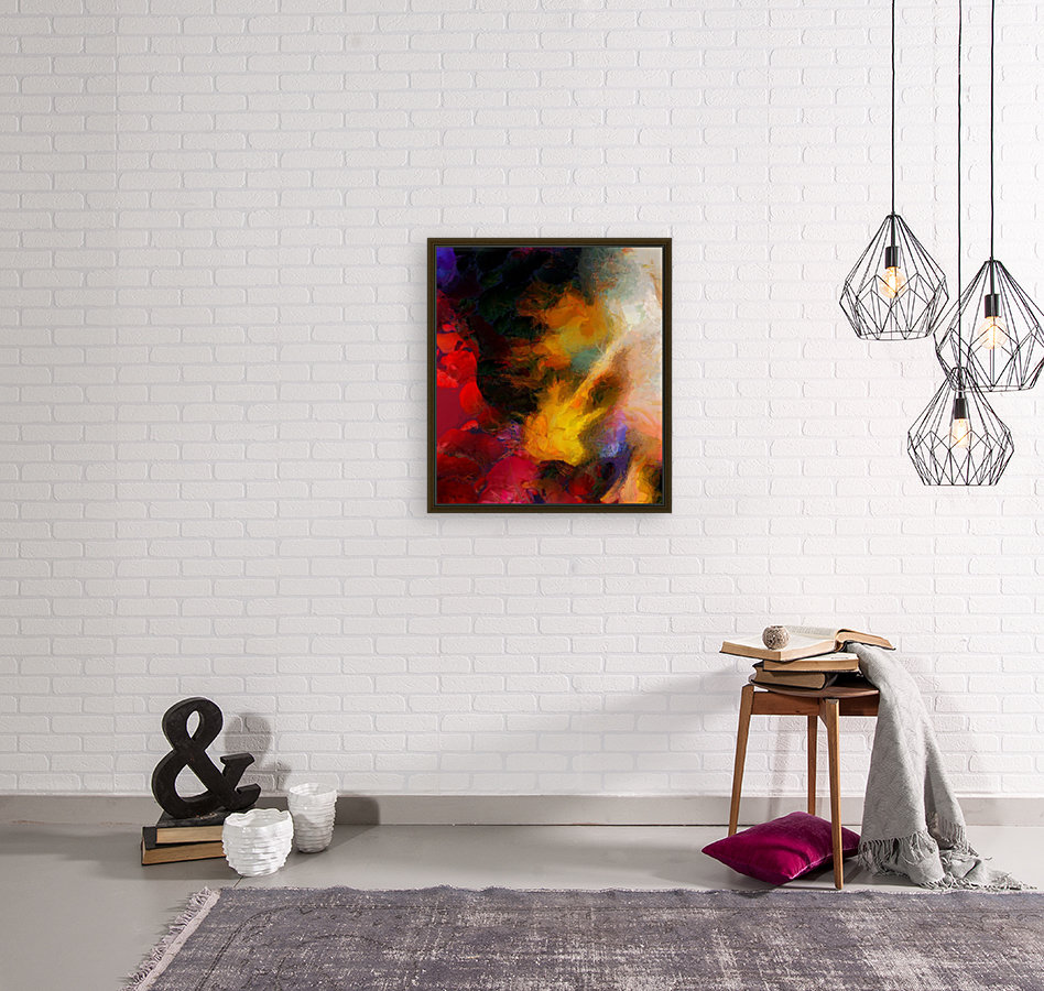 Colorful oil on canvas  Art