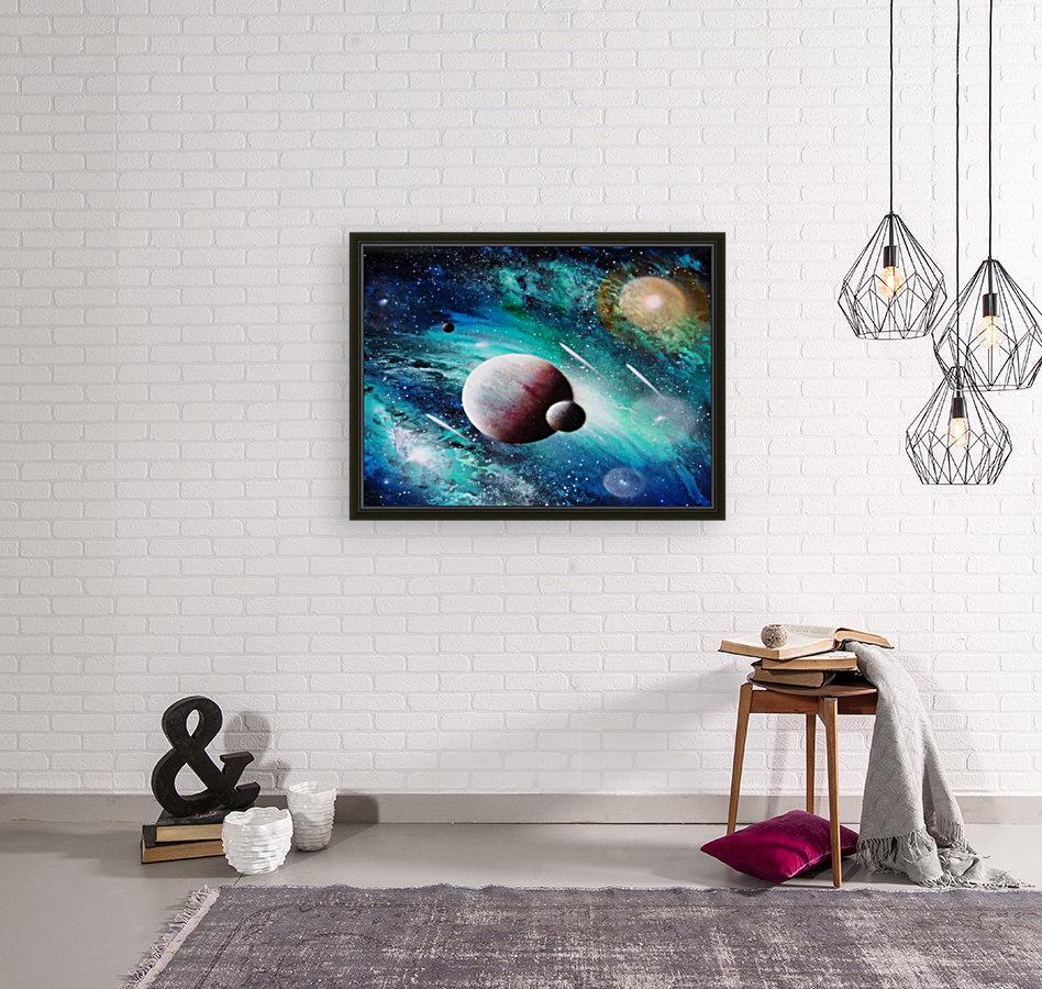 Blue maroon galaxy  Art