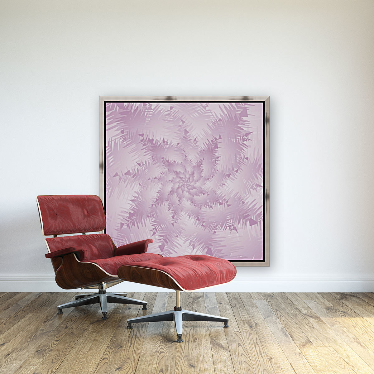 Pink Snowflakes Forest  Art