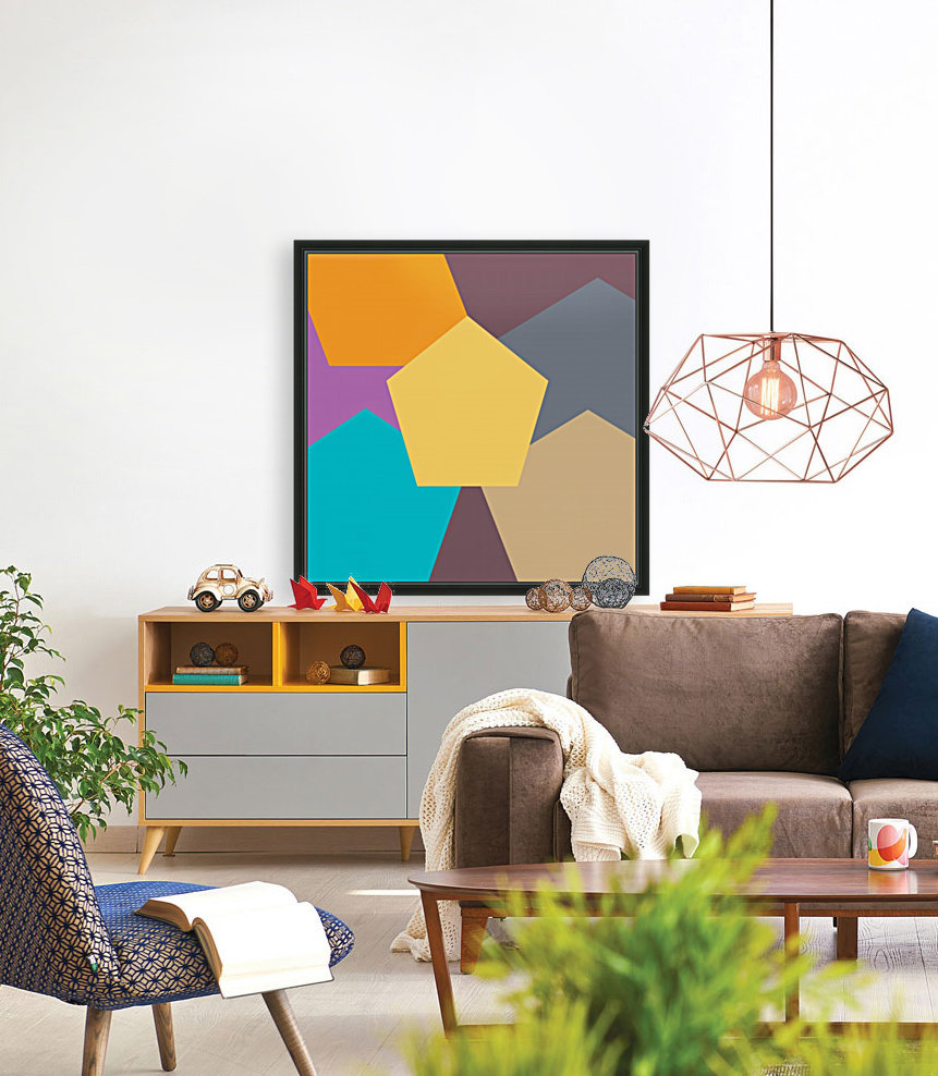 COLORFUL HEXAGON Pattern  Art