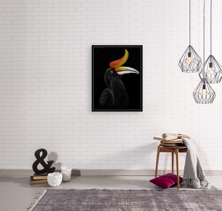 Rhinocerous Hornbill  Art