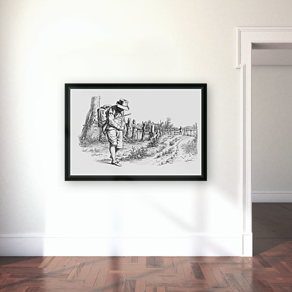 Traveler On A Country Road_OSG  Art