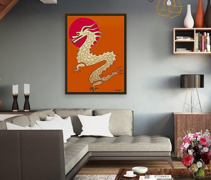 Asian Dragon Icon No.1  Art