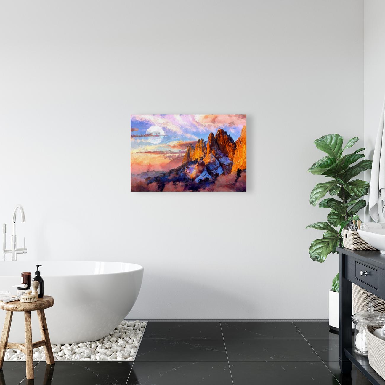 Colorado Mountains - Digital Painting III  Art