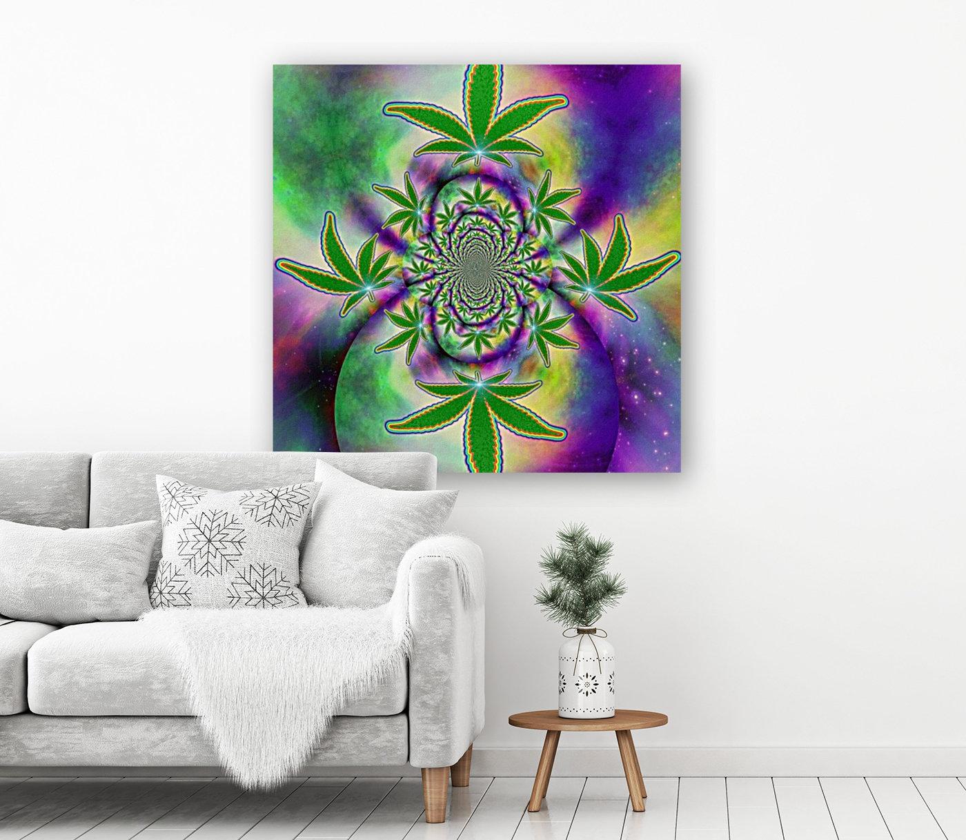 Marijuana Leaf  Art