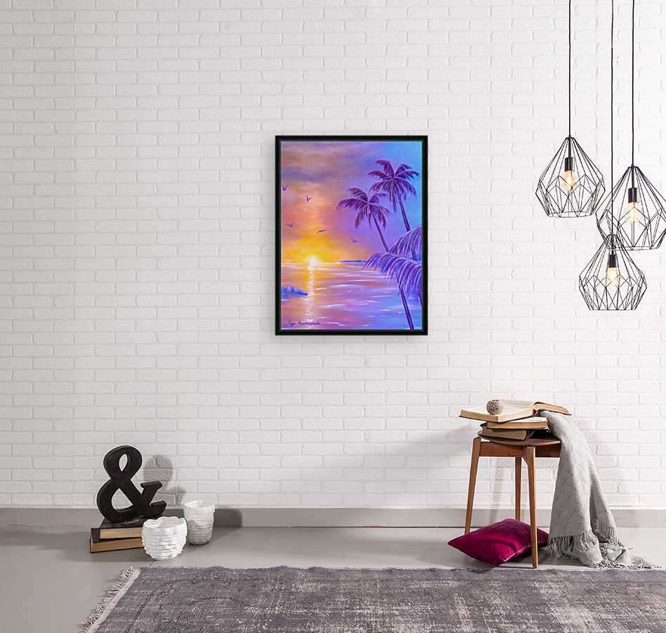 Tropical Breeze with Floating Frame