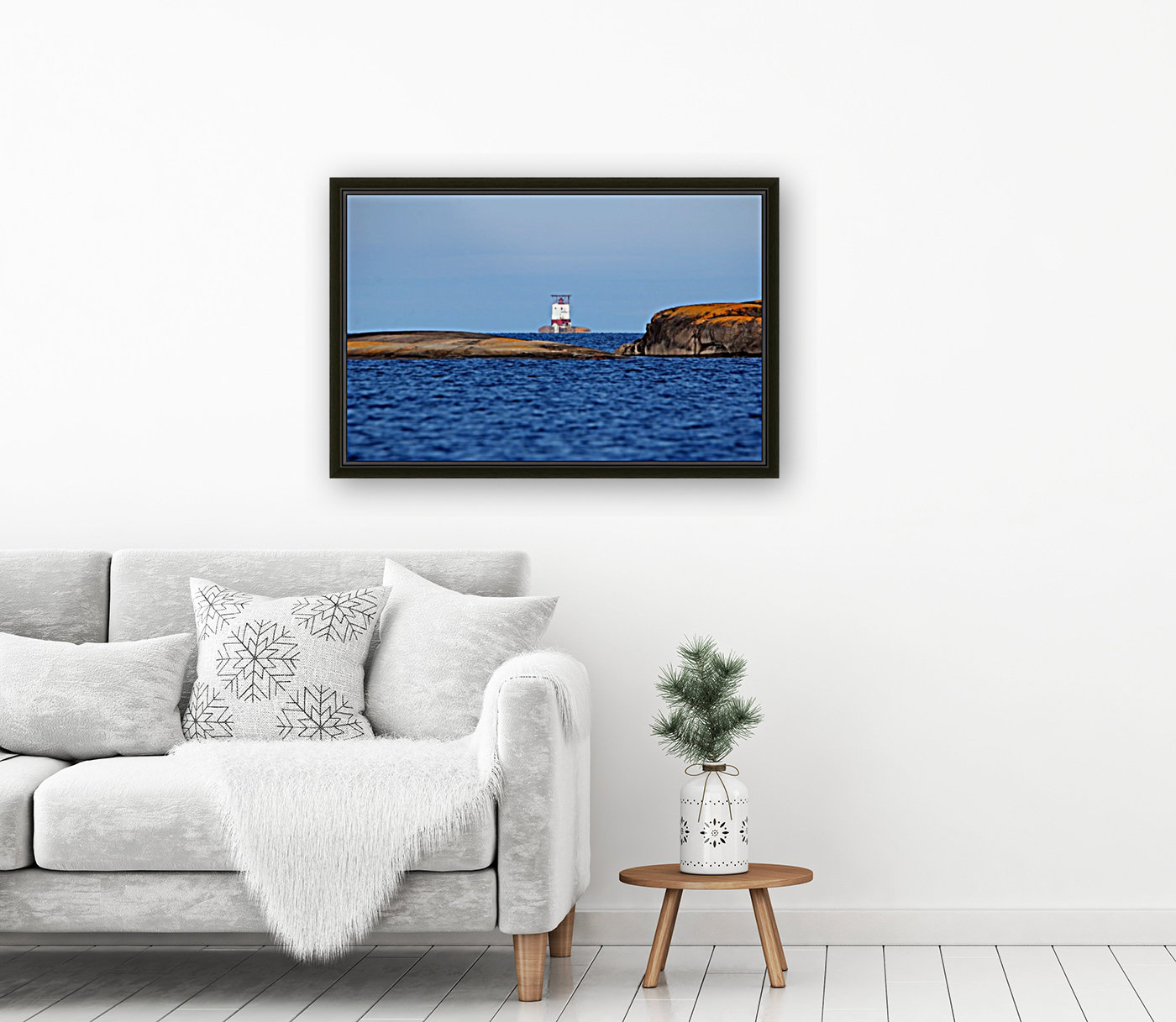 Red Rock Lighthouse Georgian Bay with Floating Frame