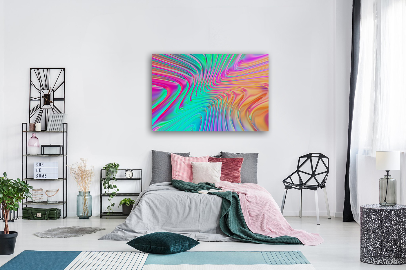 Abstract Colorful Waves  Art