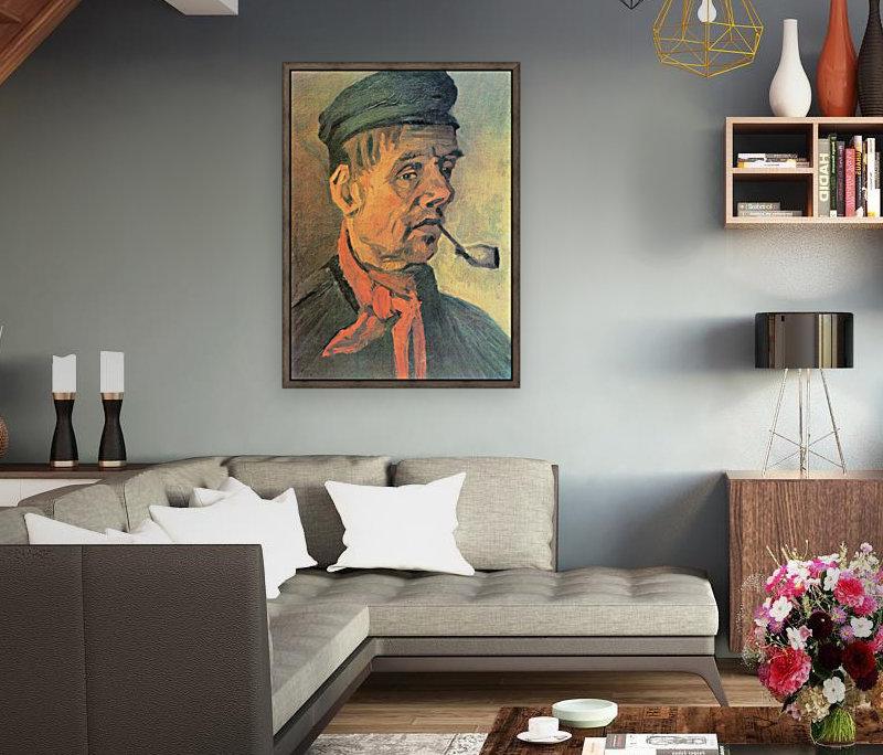 Head of a farmer with a clay pipe by Van Gogh  Art