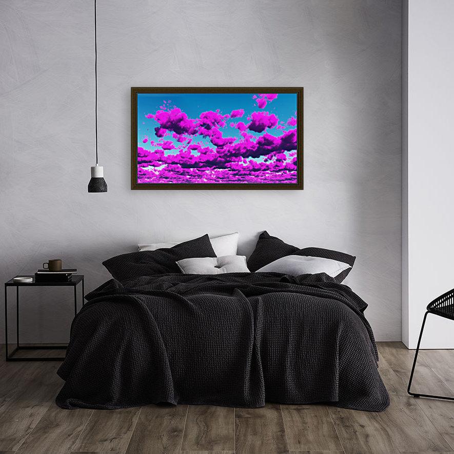Vivid Purple Cloudscape  Art