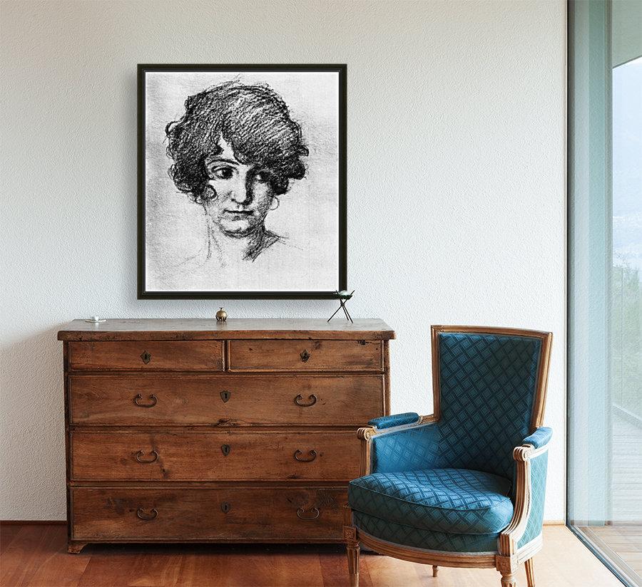 Head of the daughter of the artist, Lorli  by Albin Egger-Lienz  Art
