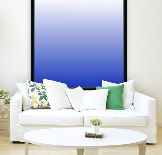 Vishuddha Chakra Blue Ombré  with Floating Frame