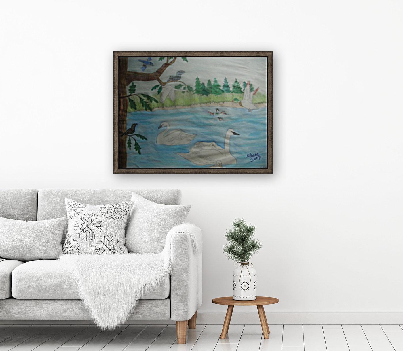 Swan Pond  Art