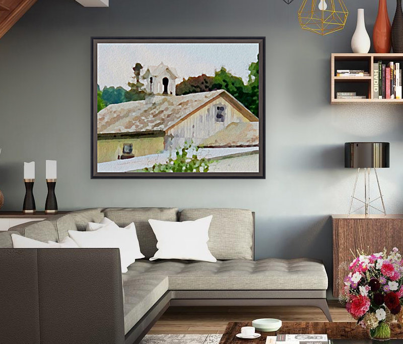 Cummington Barn Roofs  Art