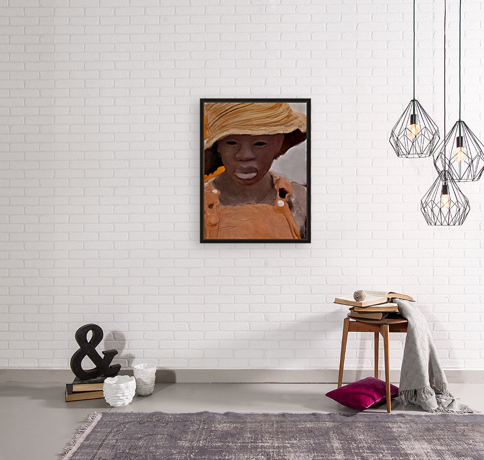 Whitney Plantation Slave Girl 1 with Floating Frame