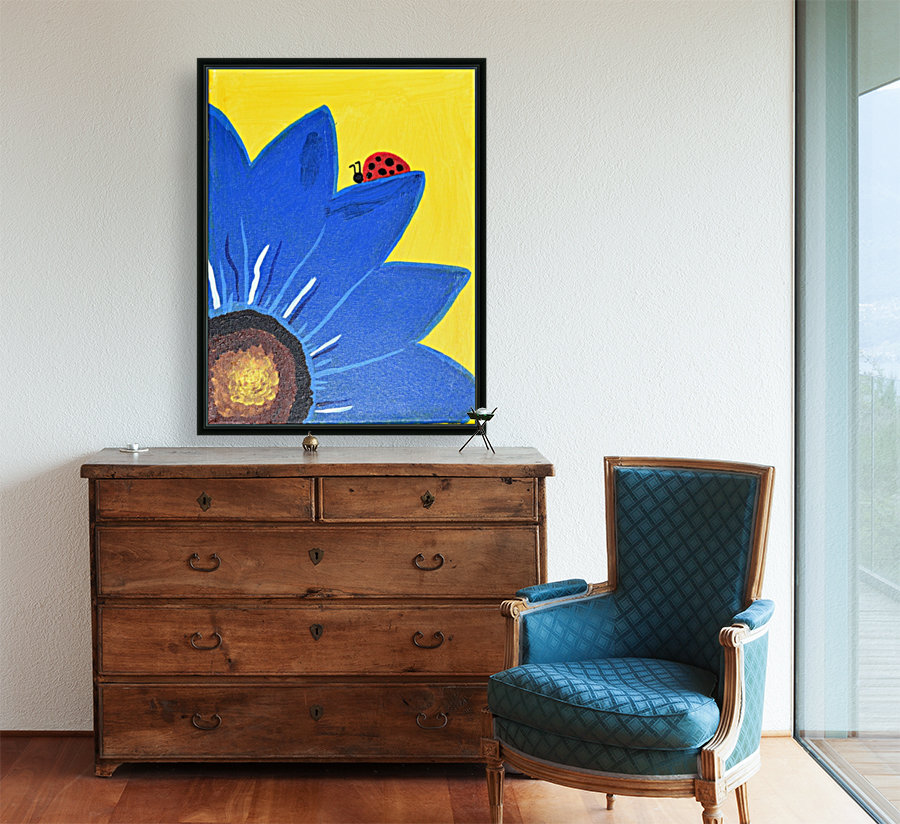 Blue Lady Bug. Maggie Z  Art