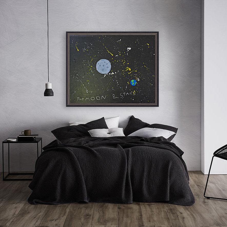 Moon and Stars. David R  Art