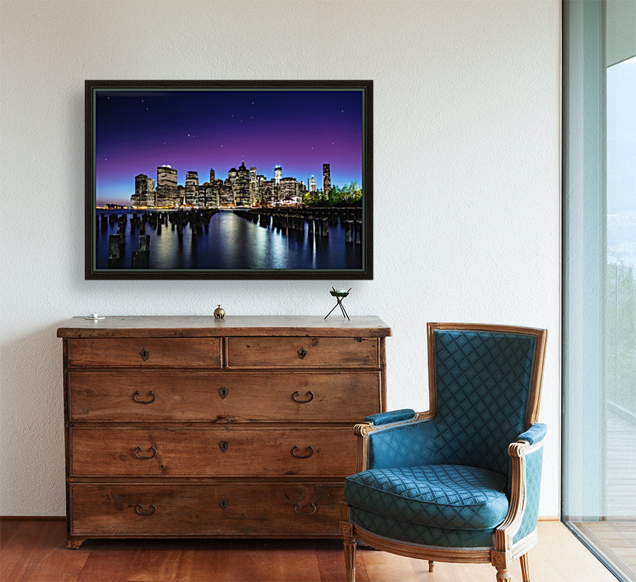 New York Sky Line with Floating Frame