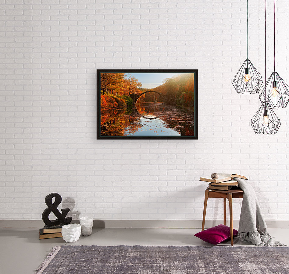 Autumn lake with Floating Frame