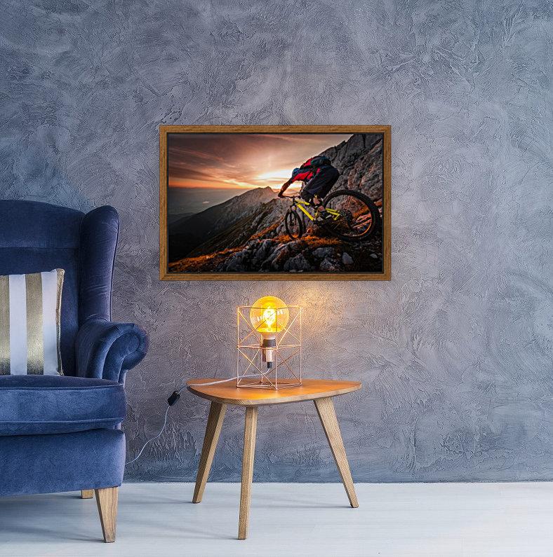 Golden hour high alpine ride  Art
