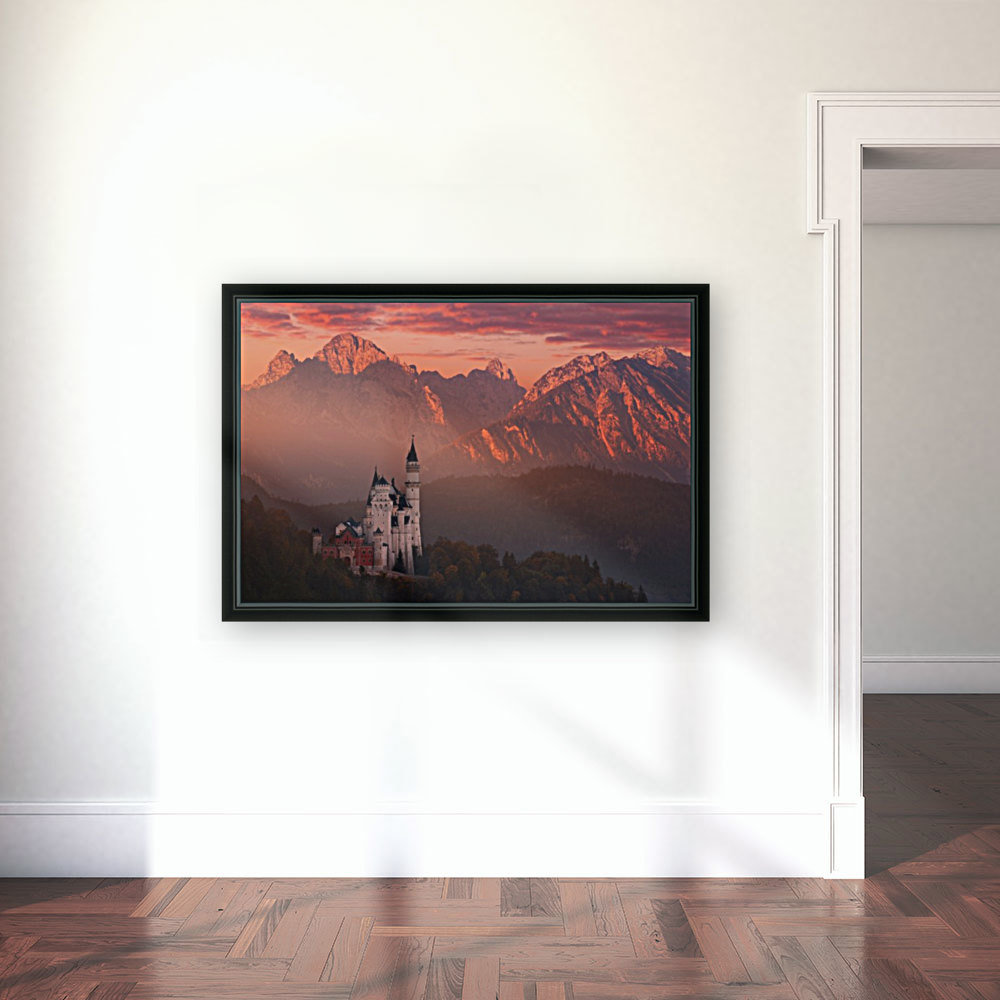 Red morning above the castle  Art