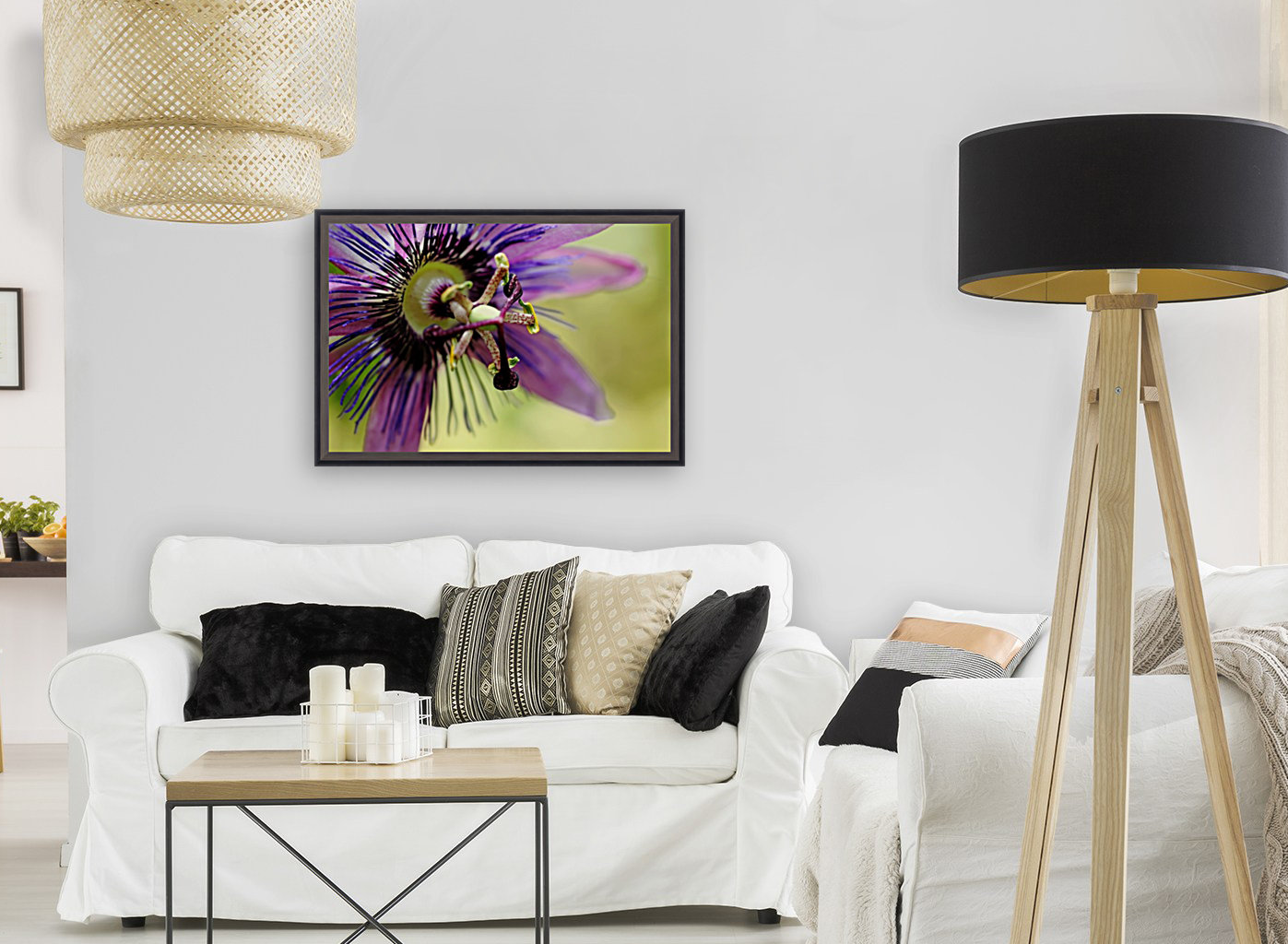 Purple Passion Flower  Art