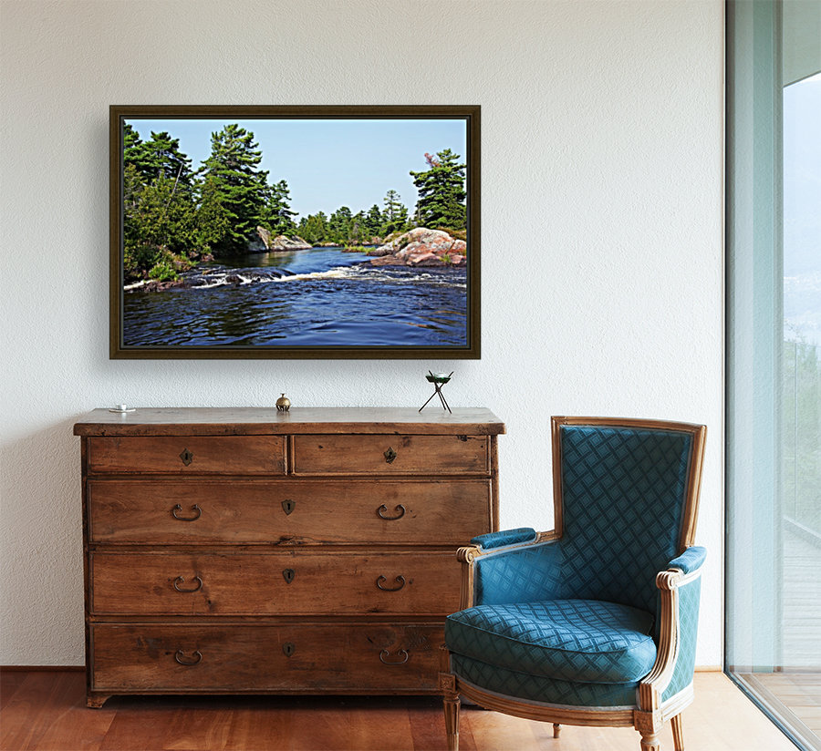 Lovers Rapids Lower French River with Floating Frame