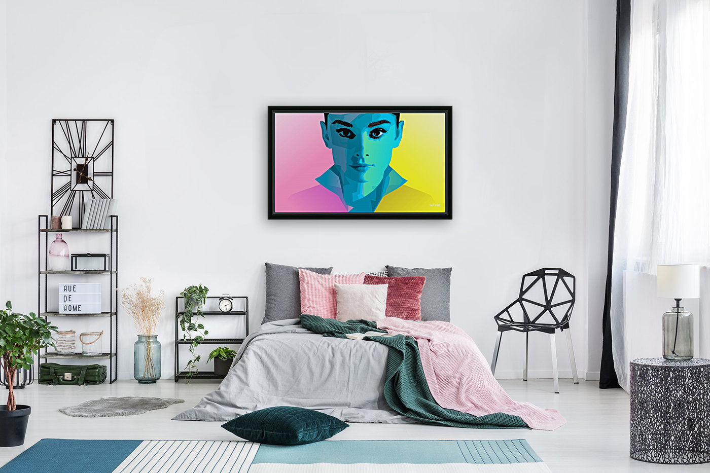 Pop Art Audrey Portrait  Art