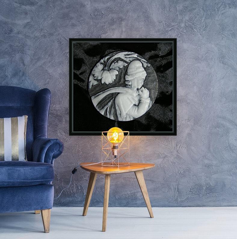 Cameo glass disc   Art
