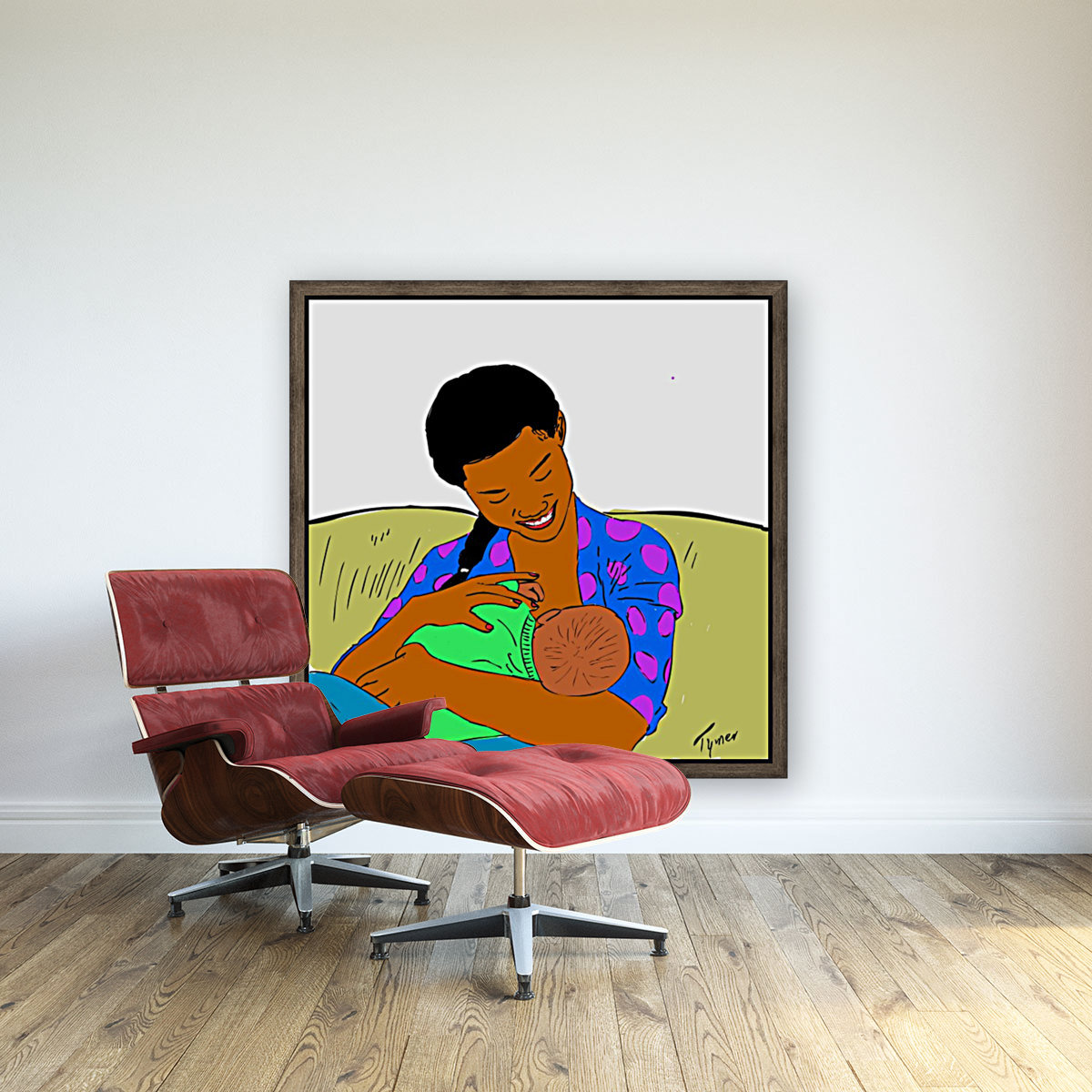 breastfeeding mother with Floating Frame
