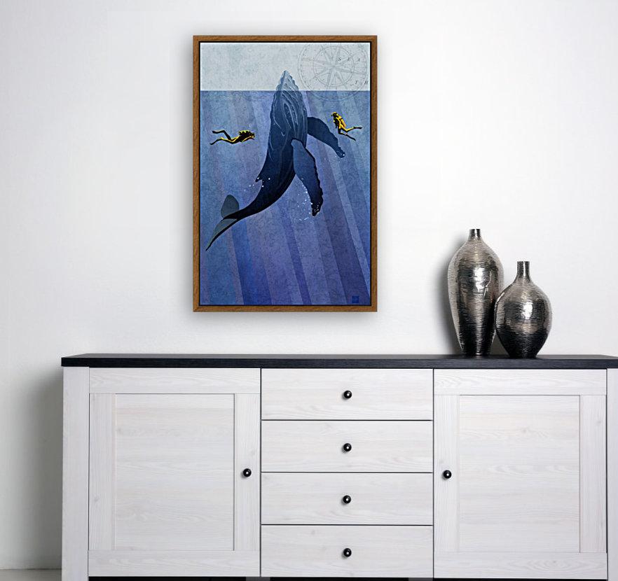 Scuba Dive with Whale  Art