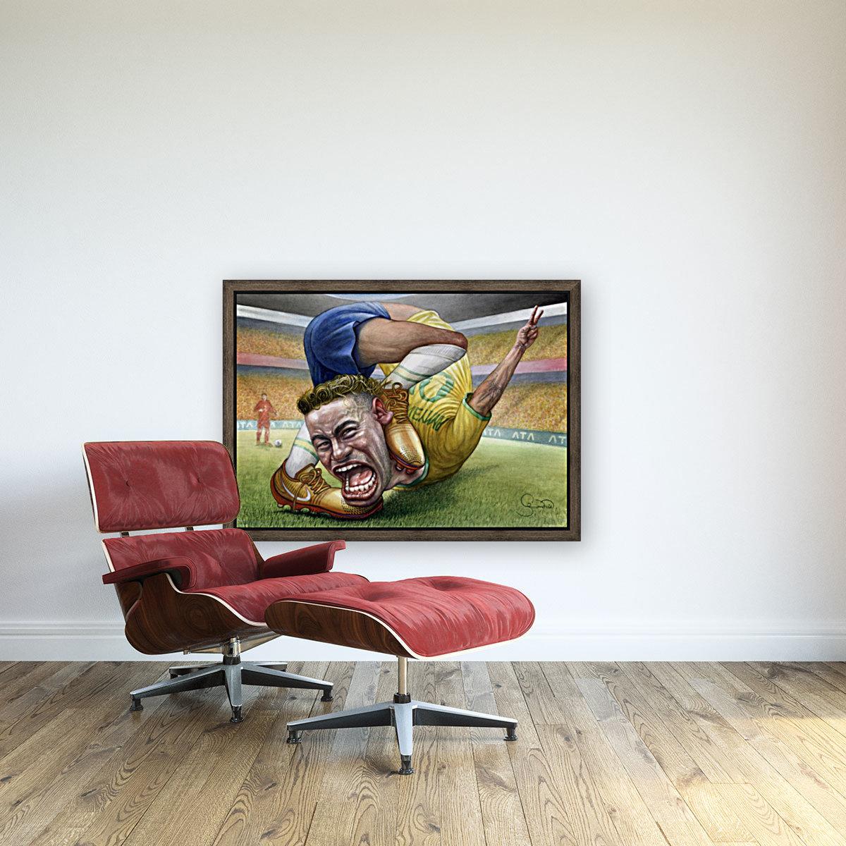 Neymar by Krzysztof Grzondziel  Art