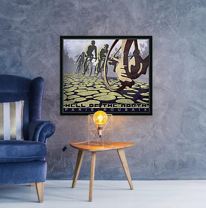 Paris Roubaix retro cycling poster  Art