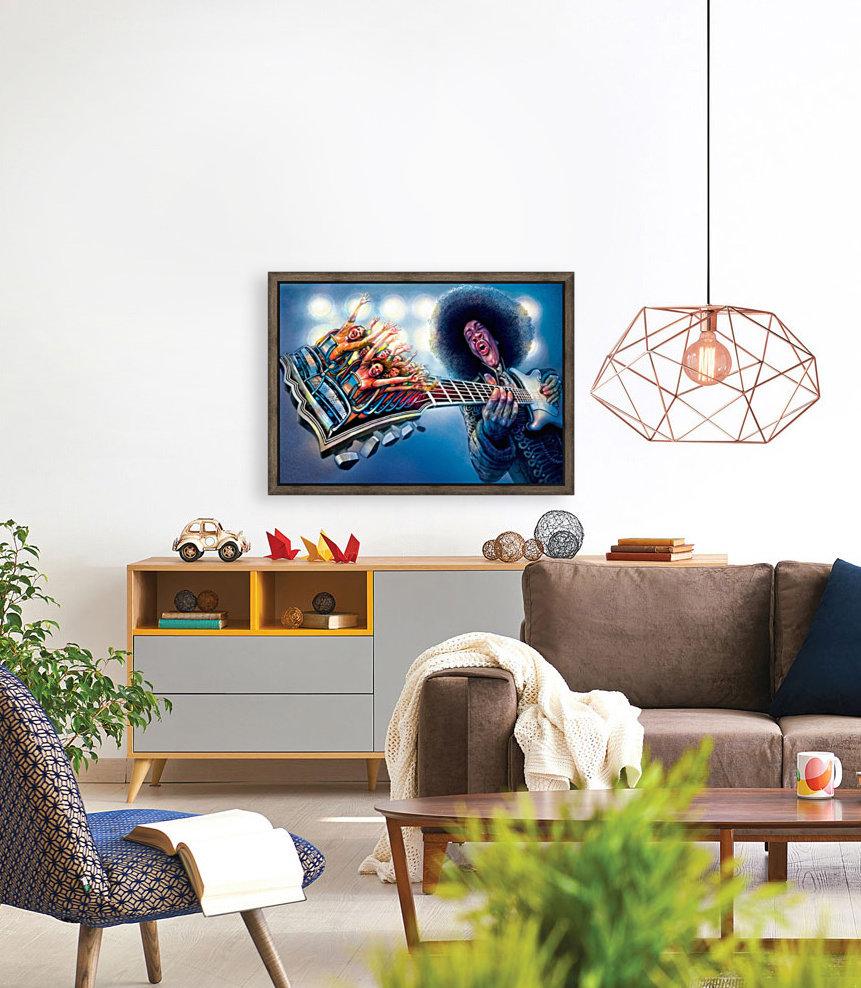 Jimi Hendrix by Krzysztof Grzondziel  Art